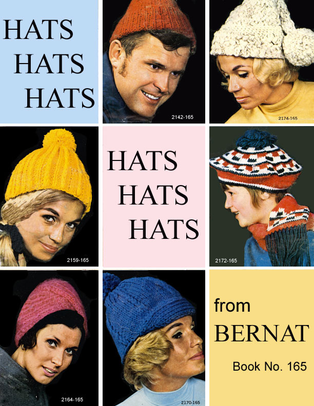 Bernat 1969 hat knitting pattern
