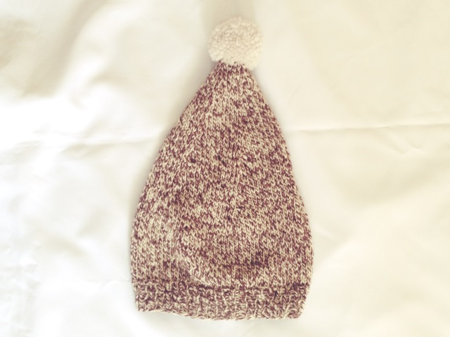 vintage 1960s inspired knitted hat
