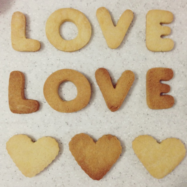 LOVE - shortbread cookies