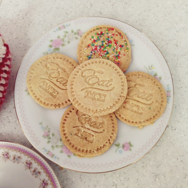 Eat Me Alice in Wonderland Shortbread Cookies
