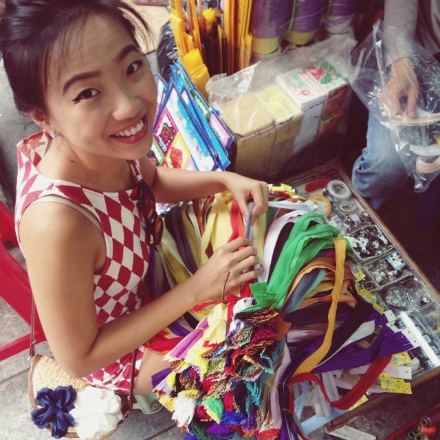 Shopping for craft supplies, Hanoi, Vietnam