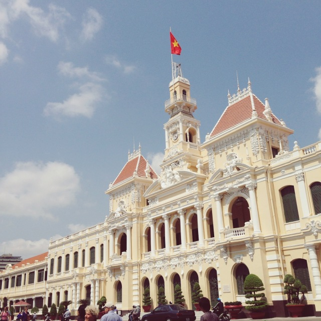 Ho Chi Minh City Hall, Ho Chi Minh, Vietnam - Love the French colonial architecture style of this building