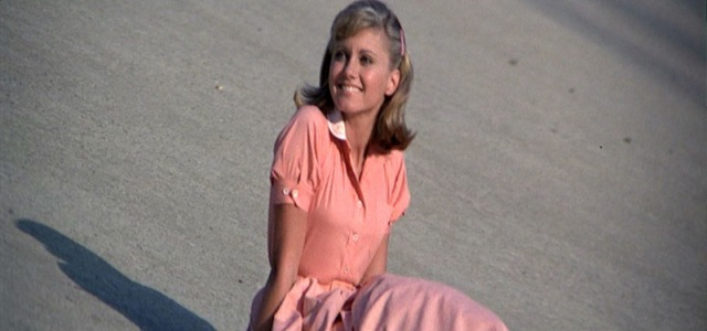 Grease_Olivia-Newton-John_Peach-Dress-Close