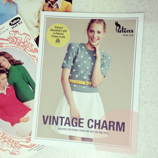 Patons Book 1318 Vintage Charm: Archive patterns from the 40's to the 70's