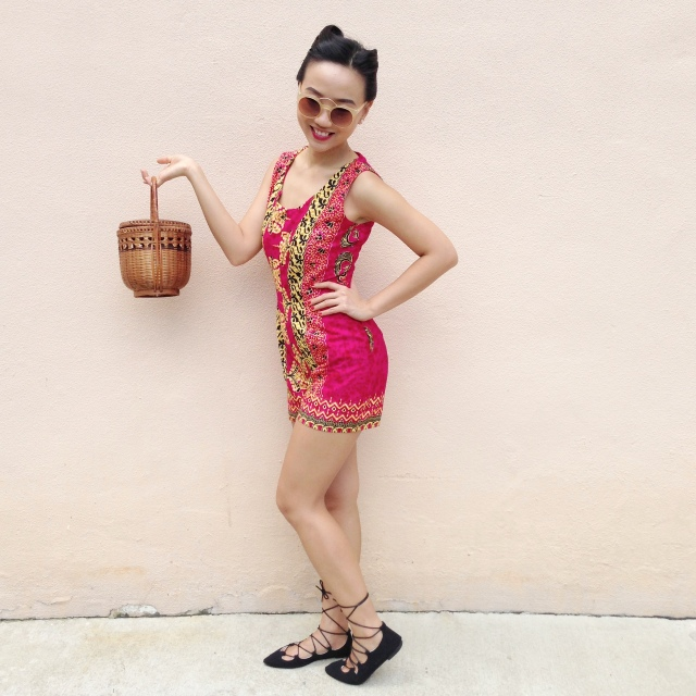 Red Hot Batik Summer 1950s inspired playsuit