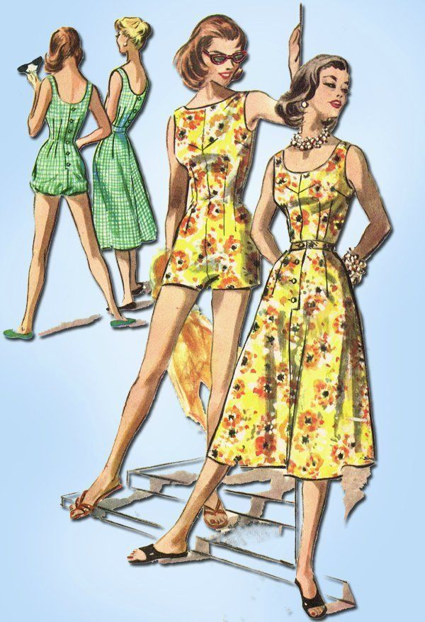 McCall 3919 Playsuit and Skirt Sewing Pattern