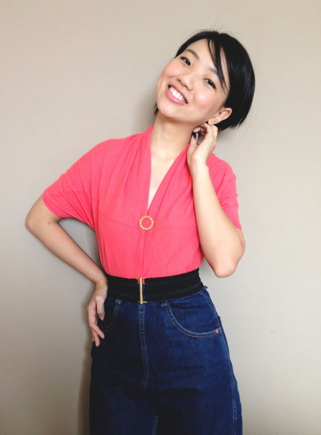 Vintage 1950s inspired Kimono Blouse Make Do and Mend Refashioned