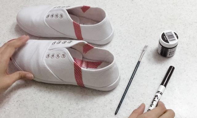 DIY Vintage Inspired Saddle Shoes