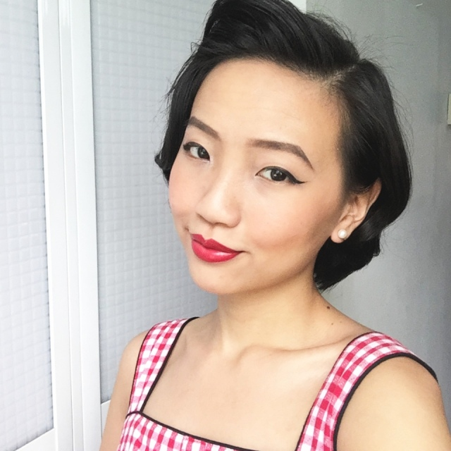 1950's retro vintage pincurls Asian look