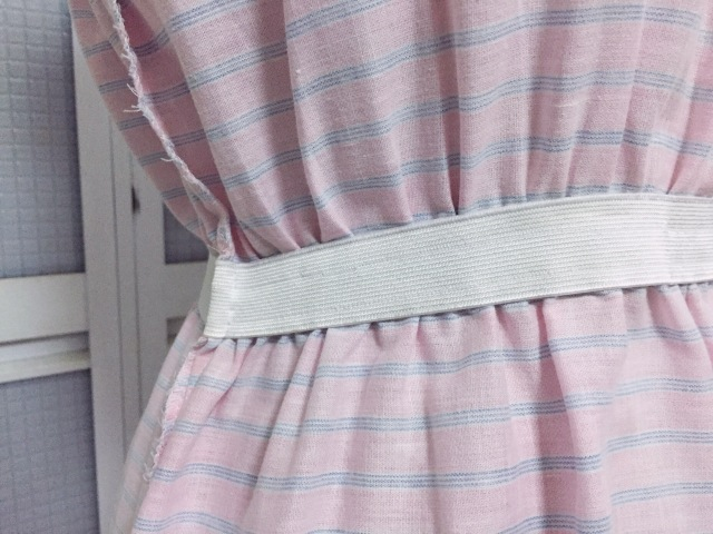 Make Do Mend Vintage 1970s Pastel Peasant Dress