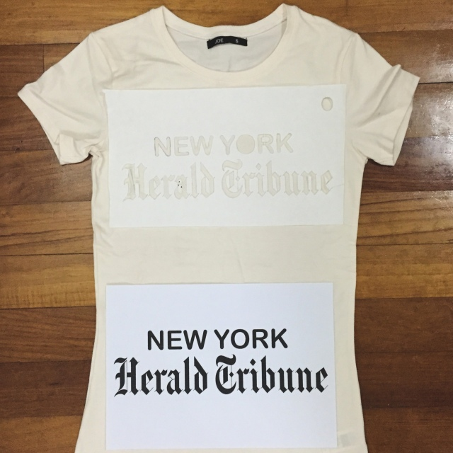 jean seberg new york herald tribune t-shirt DIY 1960s fashion