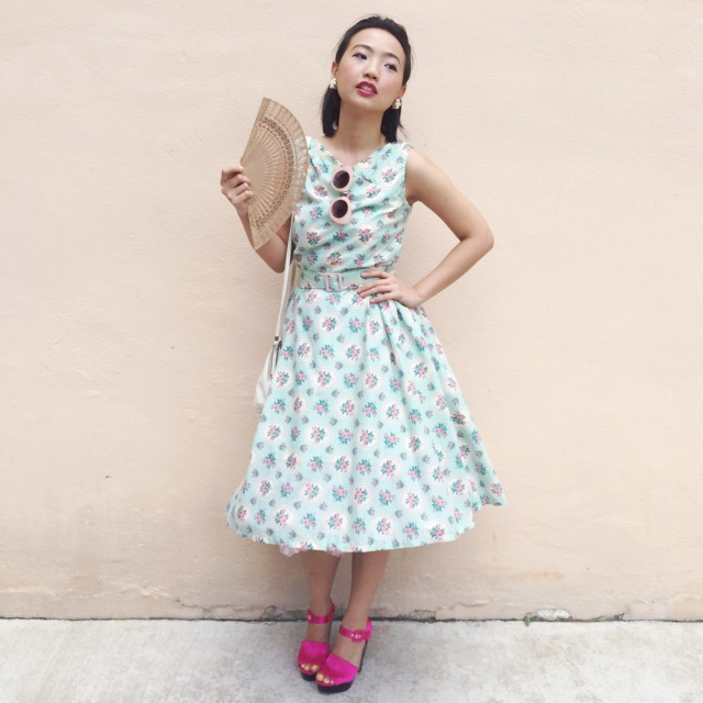 1950s 1960s floral dress butterick retro sewing hell bunny petticoat