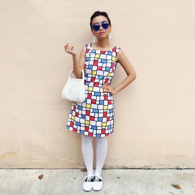 Vintage Retro Mondrian 1960s Shift Dress Outfit