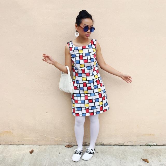 Vintage Retro 1960's Mondrian Mod Outfit