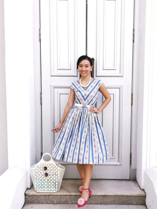 Gwenstella Made Vogue 8789 Country Garden