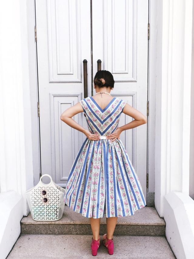 Sewing Gwenstella Made Vogue 8789 Country Garden