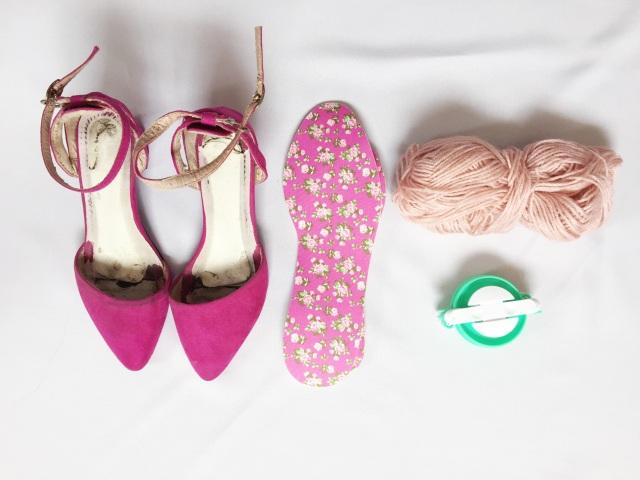 gwenstellamade pom pom heels DIY