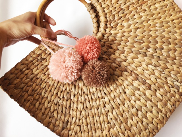 pom pom charm bag gwenstellamade