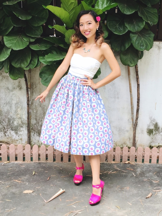 Country Garden 1950s Inspired Skirt