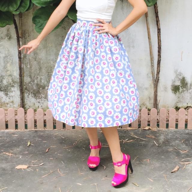 Country Garden 1950s Inspired Skirt