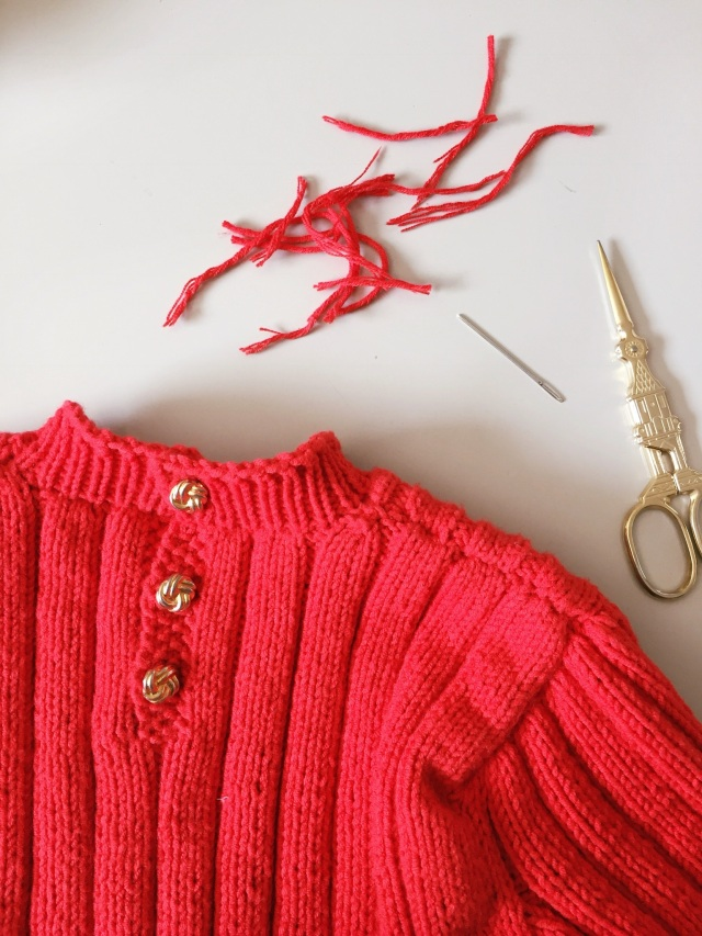Bardot Inspired Knitted Red Sweater